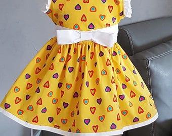 Peter Pan collar baby dress. Very trendy. HAND MADE