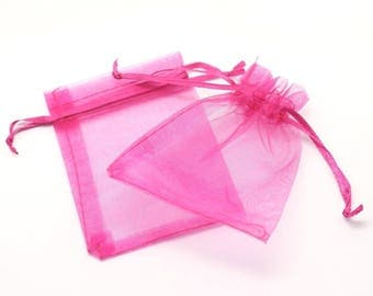 100pc - bags 10x8cm 4558550027986 Rose Organza jewelry gift bags