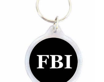 Black - FBI FBI keychain
