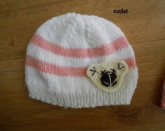 Pink baby girl newborn Hat