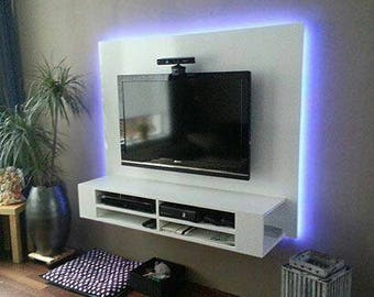 Backlit entertainment Centers. Costs vary by size and weight.
