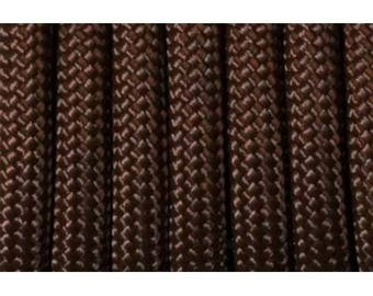 Paracord 550 type III chocolate 1 m length