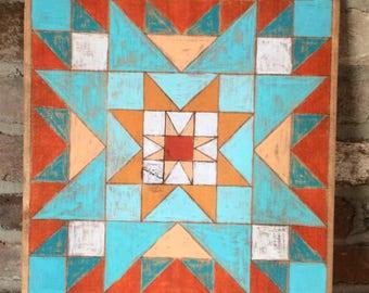 Sunburst quilt block