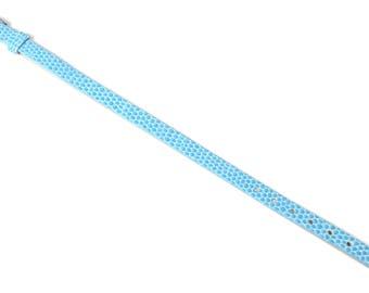 1 sky blue faux snake skin bracelet holder