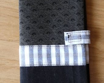 Cover for car, black, Khaki and beige papers