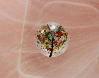 tree glass cabochon