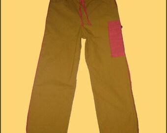 MEN's yellow pants