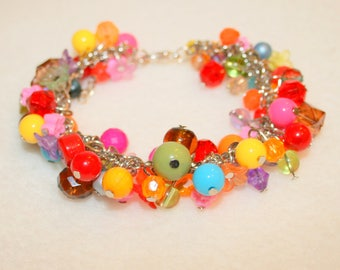 Multicolored beaded bracelet
