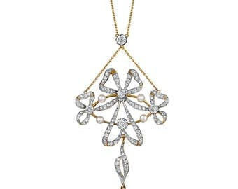 La Belle Epoque Pendant with diamonds and pearl