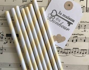 4 - Pack straws decorative yellow