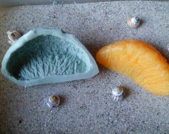 neighborhood print orange silicone mold for polymer clay wepam plaster