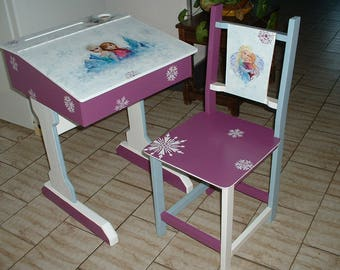 WOOD school desk - New old - handmade-