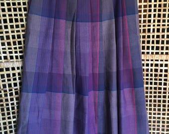Vintage High Waist Plaid Wool Skirt Size 10