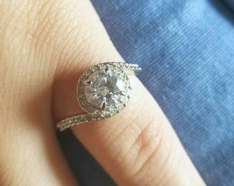 "Authentic Swarovski ""Attract light swirl ring"" / engagement / crystal"