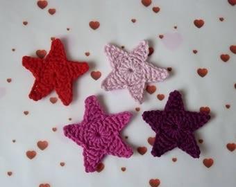 1 star (5 cm) crochet