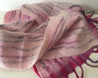 Pink felt scarf