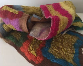Super colourful felt scarf