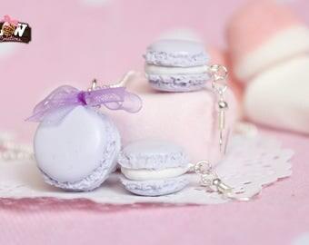 Set - Low macarons, pastel purple color