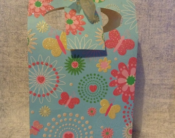 Gift Bag with Floral and Butterflies