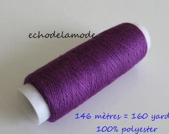 Spool of thread sewing plum 146 m 100% polyester