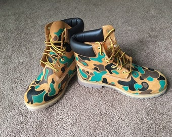 Mens Hand-painted Timberland Boots