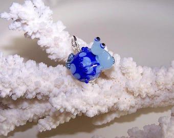 """Frog pendant """"Royal"""" glass"""