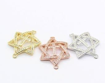 Star Of David Charms Jewish Pendant  Israeli Pendant / Religious Charm
