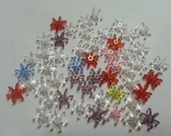 51 pearls flower colors in plastic