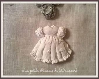 Decorative plaster girl dress