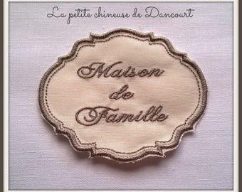 Gustavian Medallion embroidered linen family house