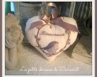 Heart bird welcome