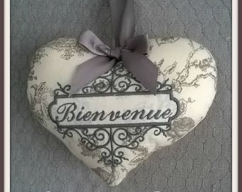 Welcome Princess embroidered heart