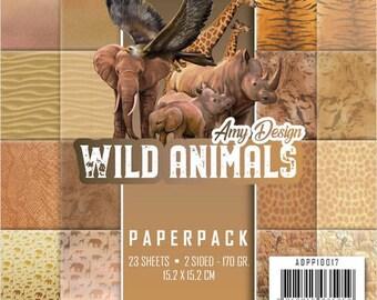 Block Amy Design, Wild Animals, 15 x 15, scrapbooking paper