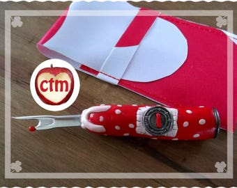 Now-quick custom Red polka dots