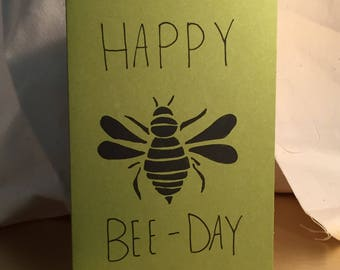 Happy Bee Day card