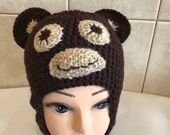 Crochet Monkey Beanie