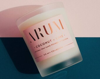 Coconut + Lime Scented Candle