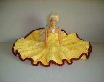Crochet for barbie type doll dress