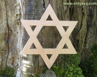 Star of David made of beech wood