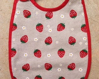 6/12 months collection strawberries Terry bib