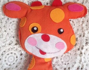 Animal fleece and felt in Orange tones