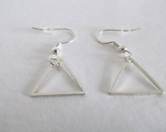 Beautiful Silver triangle earrings