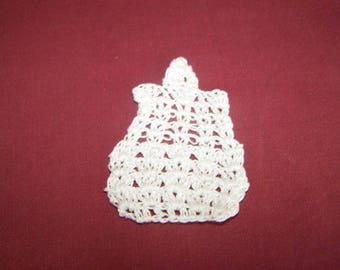 Mini bottle is embroidered in cotton, white scrapbooking