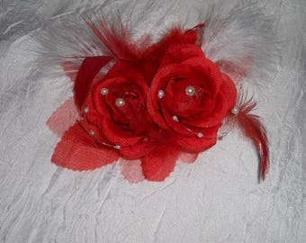 Clip flower bridal or bridesmaid