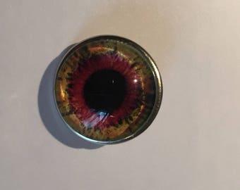 Orange button pressure 1.7 cm eye