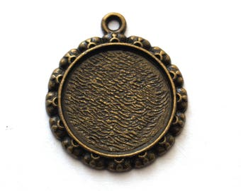 Set of 5 holders pendants for cabochons (20mm)