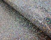 toile glitter argentée, reflets, coupon , créations accessoires, bijoux, déco, 25X21cm, à coudre pour customisation, couture et DIY