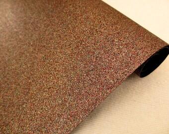 Tissu micro paillettes,  glitter coloris gingembre 30/25cm, à coudre pour customisation, couture et DIY , lavable