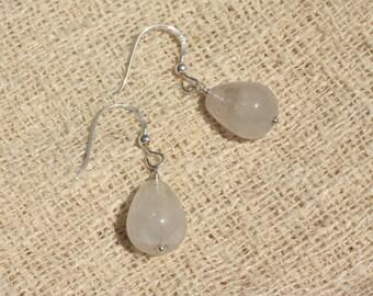 Earrings 925 Silver - Amethyst drops 14x10mm
