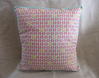 Cotton fabric Cushion cover piped